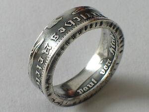 Münzring 5 Reichsmark Hindenburg 1935 36 Silber 900er Coin Ring
