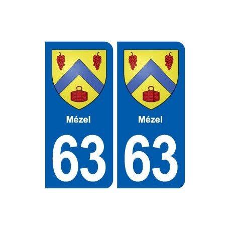 63 Mézel blason autocollant plaque stickers ville arrondis