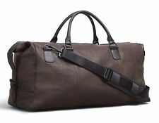 Kenneth Cole Men's Colombian Leather Top-Zip Duffel Bag  - Brown 580811