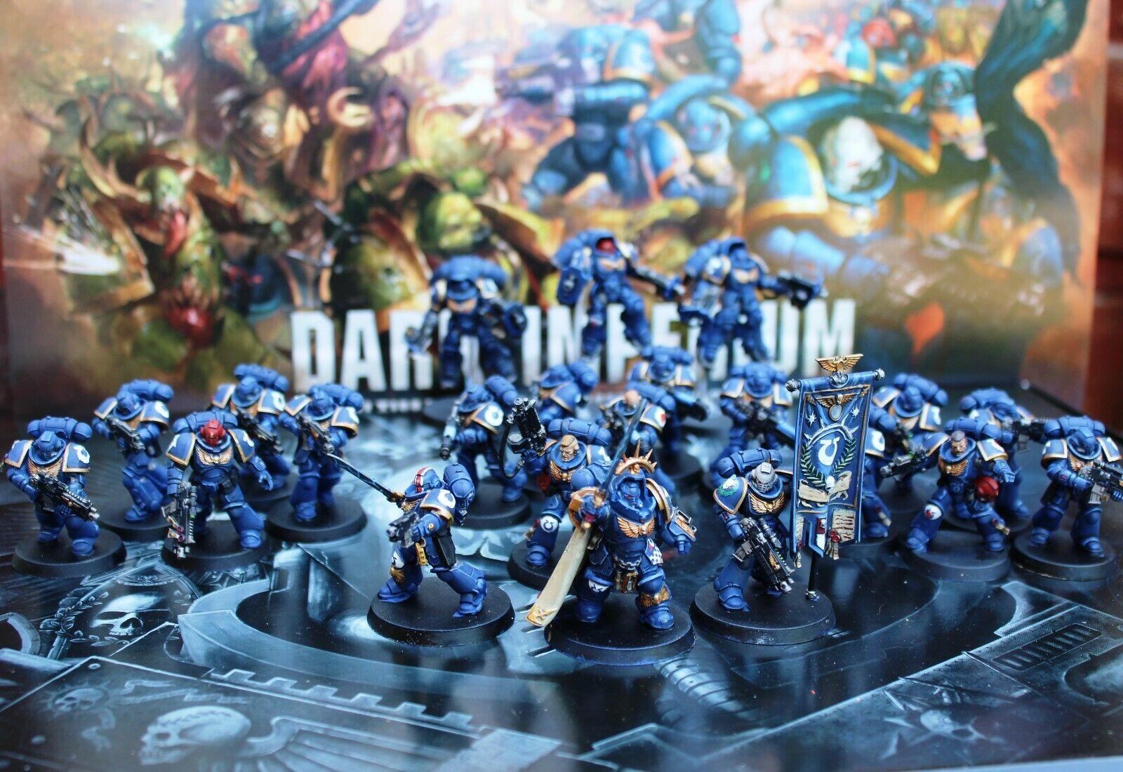 Primaris space marines army ultrmarines dark imperium Pro painted  made to order