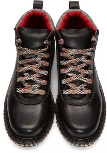 RRP £ 895 nuovi stivali di Alexander McQueen, Combattimento, Nero, UK7, EU40, US10, 27cm