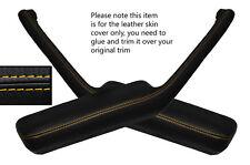 YELLOW STITCH 2X DOOR HANDLE ARMREST SKIN COVERS FITS PONTIAC FIREBIRD 90-92