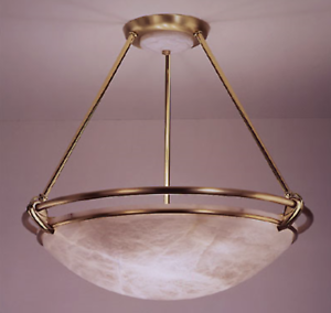 Details About Boyd Lighting Apollo Alabaster Br Pendant Fixture
