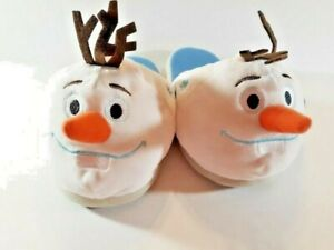 Disney-Frozen-II-Blue-Olaf-Snow-Slippers-Slip-On-Multi-color-3D-Size-Medium-New
