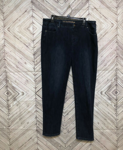 Donna Low Dintorni Stretch Blue Curvy Soft Jeans Jegging Skinny Rise Xl zgAqdtx
