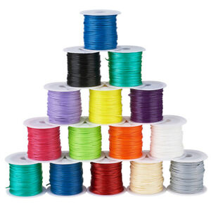 25Rolls-Random-Waxed-Polyester-Cords-Round-Jewellery-Beading-Threads-Macrame-1mm