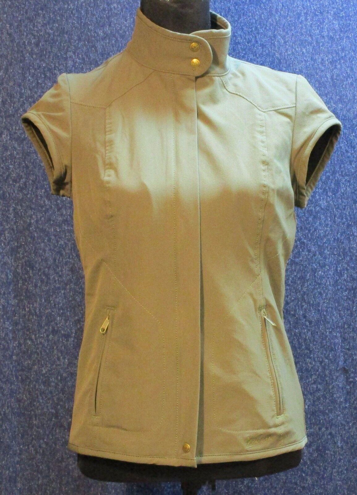 Woolrich Women's NWT Small Olive Green Fleece Lined Transport Transport Transport Vest Zipper Front ca1cb5