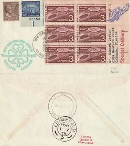 US-1958-FIRST-FLIGHT-FLOWN-AIR-MAIL-COVER-NEW-YORK-TO-SHANNON-IRELAND