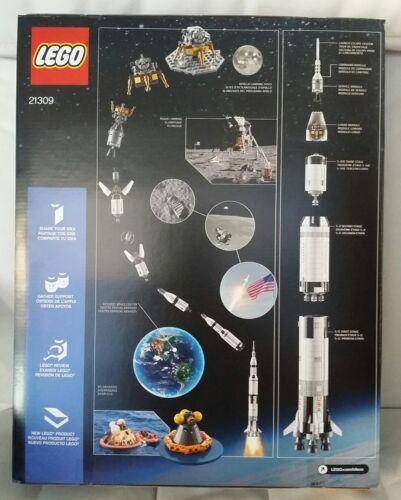 New LEGO 21309 Space Ideas NASA Apollo Saturn V Sealed