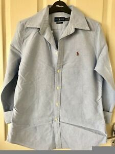 Medium Lauren Blue Used Light Ladies Women's Ralph Shirt q6nwY