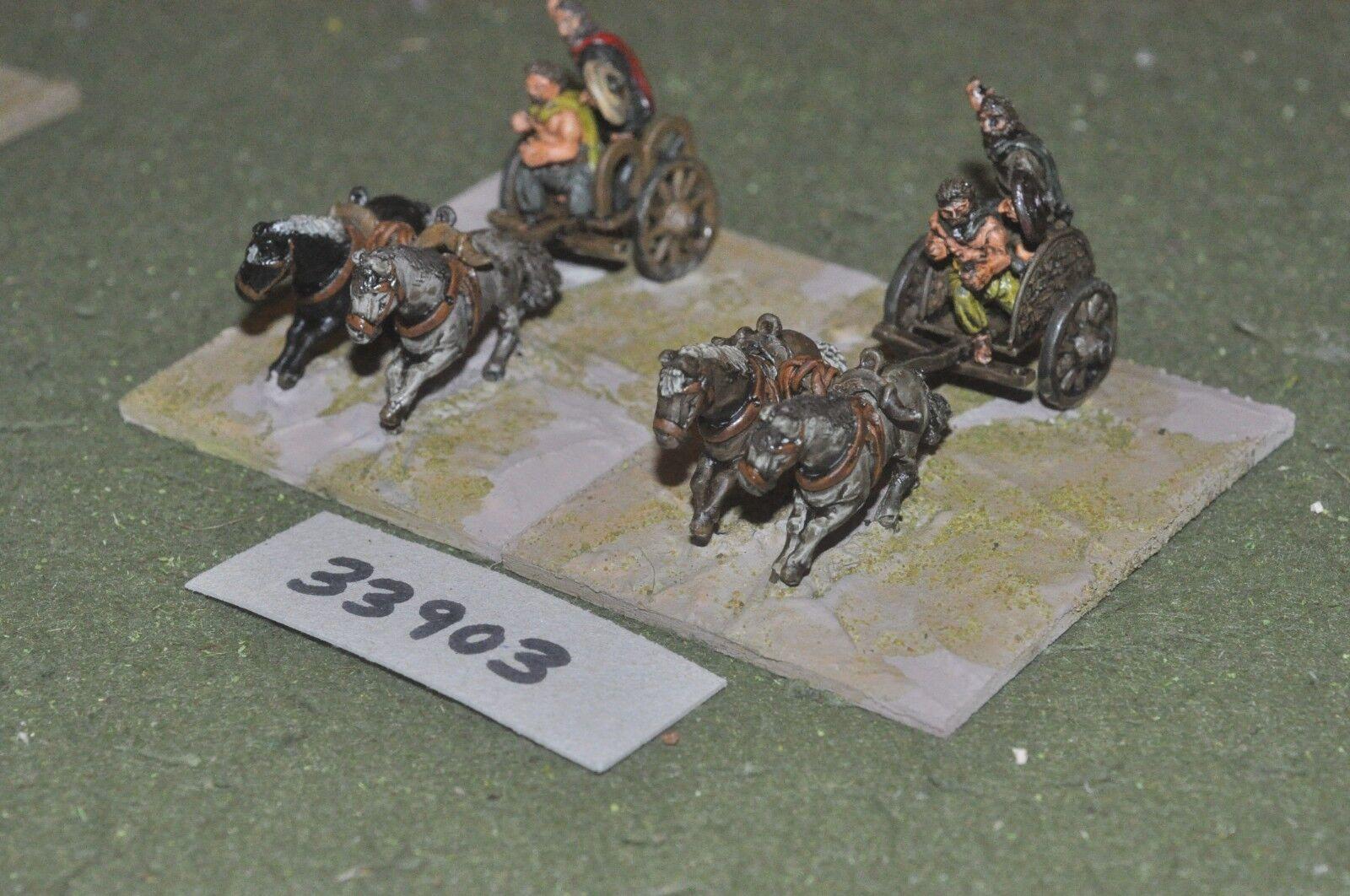 25mm roman era   gaul - 2 light - chariots (33903)