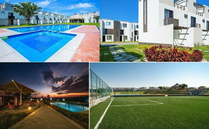 Casa en Residencial con Sports Club y Piscina cerca de CDMX sur