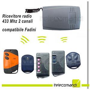 Intelligent Ricevitore Radio Ricevente 2 Canali Compatibile Fadini 433 Mhz Tutti I Modelli Confortable Et Facile à Porter