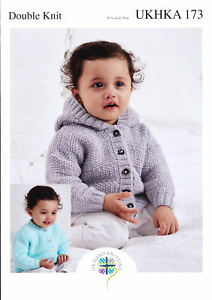 f5dcb4e7bfb9 Double Knitting Pattern Baby Hooded or Round Neck Long Sleeve ...