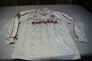 Camiseta-OFICIAL-SEVILLA-FC-2000-01-Ascenso-a-1-UMBRO-Talla-L-12-Luis-TEVENET