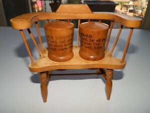 Astonishing Details About Vintage Wooden Salt Pepper Shakers Meal Prayers Wood Bench Chair Onthecornerstone Fun Painted Chair Ideas Images Onthecornerstoneorg