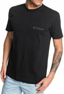 Quiksilver-Waterman-Mens-T-Shirt-Black-Size-Small-S-Logo-Graphic-Tee-30-196