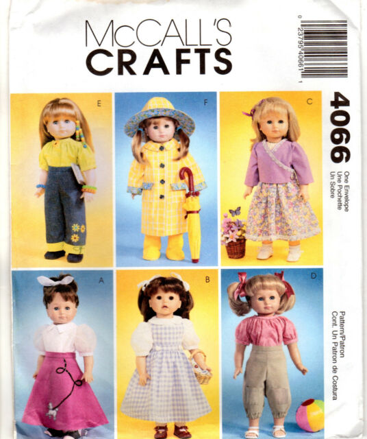 """McCall/'s Crafts Doll Clothing Patterns for 18/"""" Dolls Girl American? Choose"""