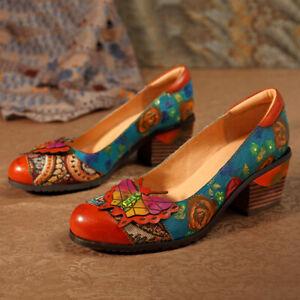 SOCOFY-Women-Vintage-Flowers-Pattern-Splicing-Butterfly-Genuine-Leather-Shoes