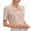 Women-Bowknot-Loose-Chiffon-Tops-Short-Sleeve-Shirt-Casual-Blouse-Summer thumbnail 2