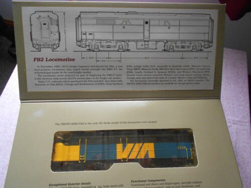 PROTO 2000 FA2 DIESEL LOCOMOTIVE DUMMY HO GAUGE VIA RAIL NIB