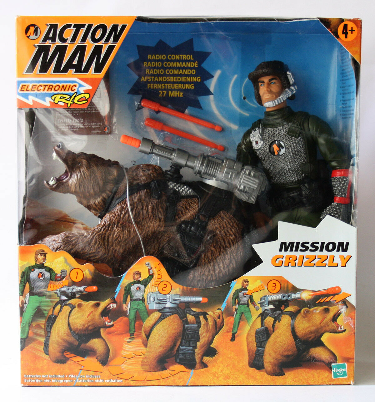 VINTAGE 1999 ACTION MAN MISSION GRIZZLY HASBRO UNUSED IN BOX UNTESTED