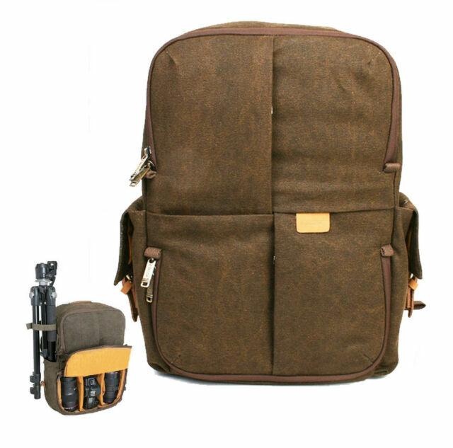 Waterproof Canvas Backpack Rucksack Bag For CANON 6D 5D Mark II Mark III