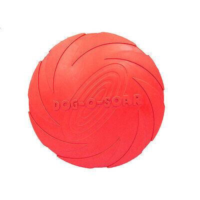 Silicone Pet Dog Frisbee Flying Disc Toy for Outdoor Large Dog Fetch Training