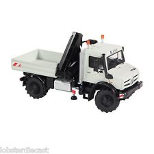 UNIMOG U5000 Platform complete with crane in Grey 1/50 scale model by NZG 9113