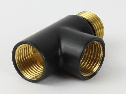 Elemento riscaldante Connettore-Dual Fuel CROMO T-Pezzo per Portasciugamani COLORI