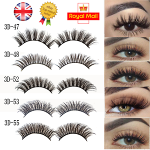 5Pairs-3D-Natural-False-Eyelashes-Long-Thick-Mixed-Fake-Eye-Lashes-Makeup-Mink