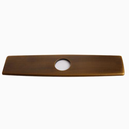 "8/"" Antique Brass Escutcheon Base Plate Sink Basin Taps Hole Cover"