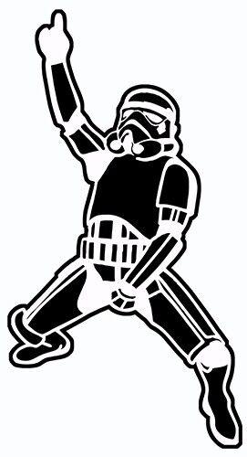 Dancing Storm Trooper sticker VINYL DECAL Sci-Fi Star Wars Empire Strikes Back