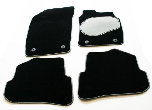 2013/> 4th gen Carpet Car Mats Silver // Black Trim /& Grey Heel Toyota Rav 4