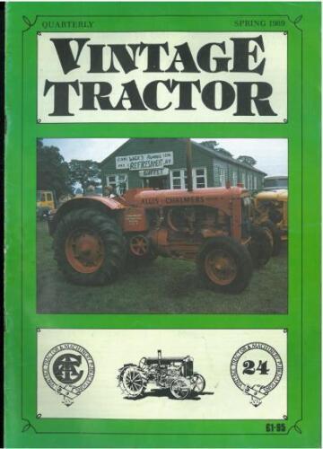 Vintage Tractor Magazine-Número 24-la primavera de 1989-Bk1