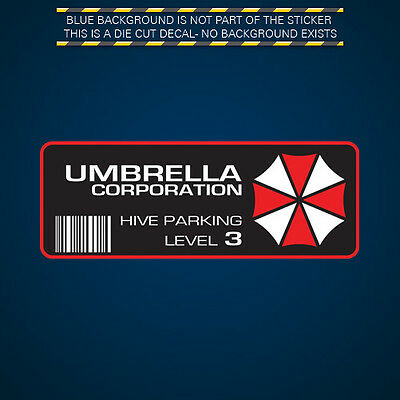Umbrella Corporation Hive Parking Sticker Multicolor Decal