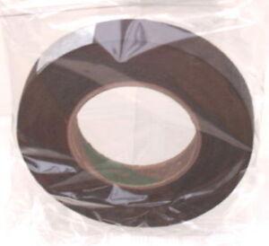 2 bobines de ruban fleuriste marron motif floral imperméable boutonnières stemwrap  </span>