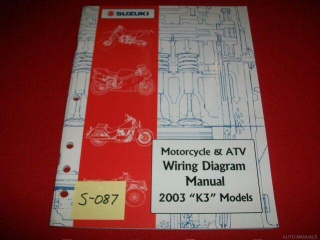 Suzuki Motorcycle  U0026 Atv Wiring Diagram Manual 2003  U0026quot K3 U0026quot  Models Exc  Condition