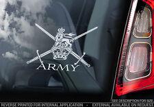 British Army - Car Window Sticker -Armed Forces Logo Emblem Badge Sign Decal MOD