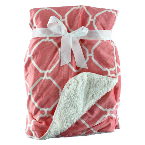 Newborn Infant Baby Boy Girl Soft Fleece Cotton Blanket Comforter Fur Back Wrap