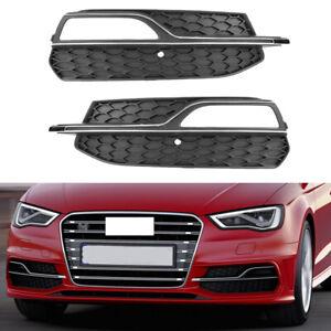 Fit-For-2015-2016-Audi-A3-SLine-S3-Front-Left-Right-Fog-Lights-Cover-Trim-Grille