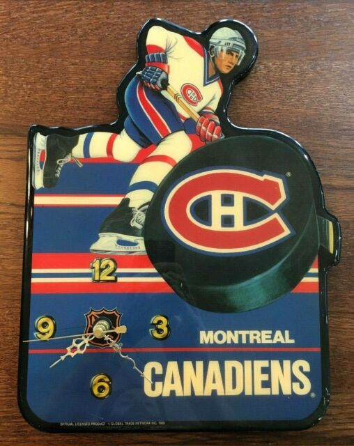 Vintage Montreal Canadiens Wall Clock Nhl 1989 Official Licensed Habs Hockey