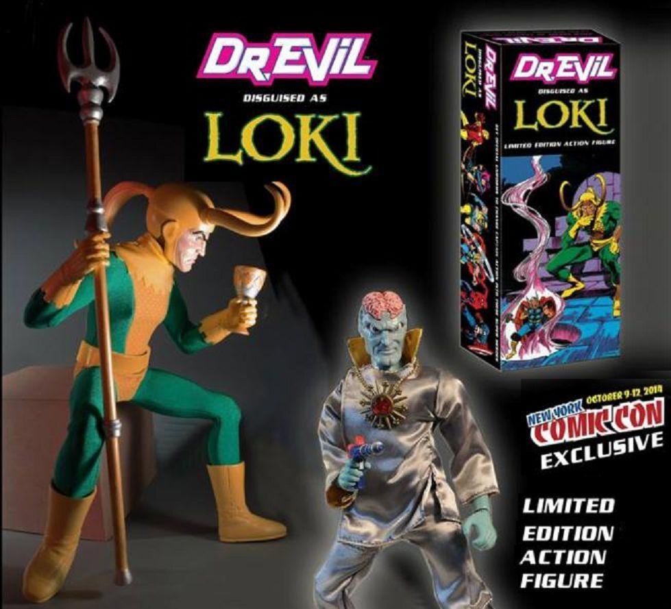 Dr Evil como Loki Rara Edición Limitada Nycc Figura De Acción Capitán Nuevo En Caja