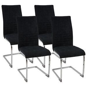 Esszimmerstuehle-LUGANO-Stoff-Freischwinger-Schwing-Stuhl-Set