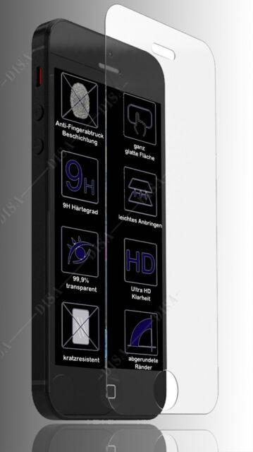 iPhone SE 5 5S Glasfolie 9H Schutzglas Schutzfolie Panzerfolie Echtglas SE11
