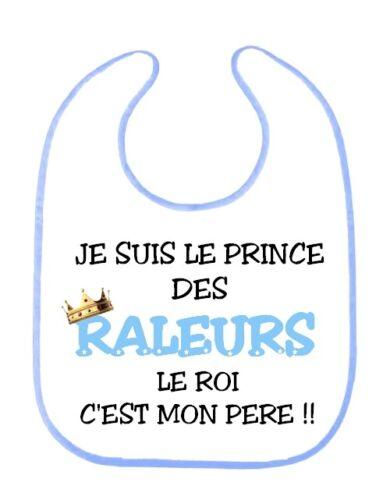 Bavoir bébé Humour Le prince des raleurs