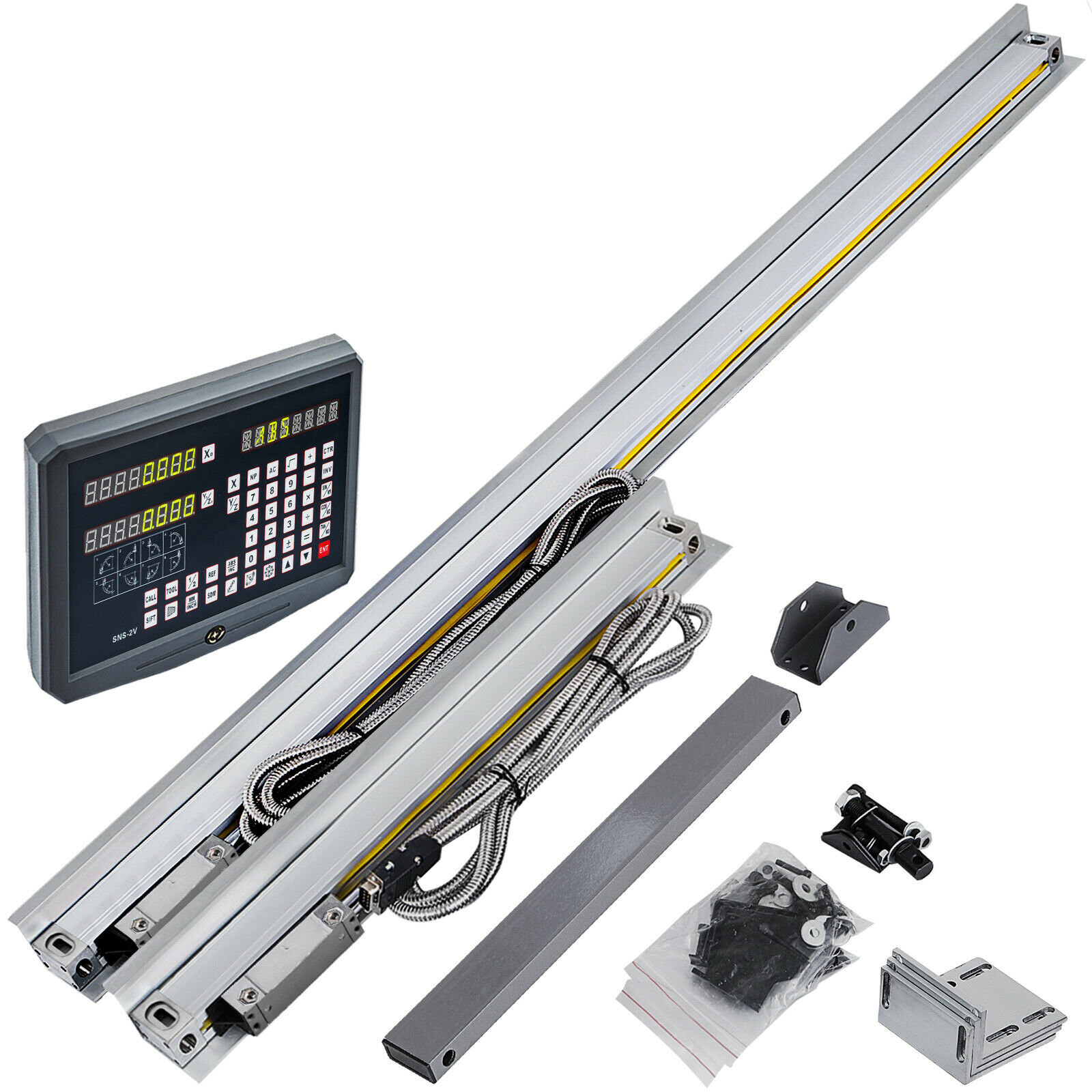 2 Axis Precision Linear Scale Digital Readout DRO for Milling Lathe Machine 400mm + 850mm ,DHL,4-7 Business Days