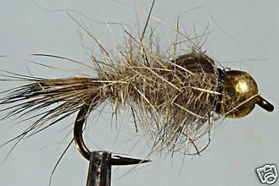 1 x Mouche  peche Nymphe Lievre BILLE ORANGE H10//12//14//16//18//20 fly fishing