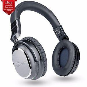 Naztech i9 BT Active Noise Cancelling Bluetooth On-Ear Headphones Black- 2nd GEN