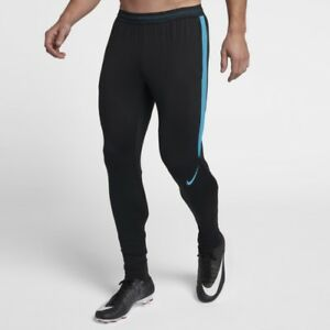 4e3036f133b9d Nike Dry Strike Football Pants Black Light Blue Fury - Large - New ...